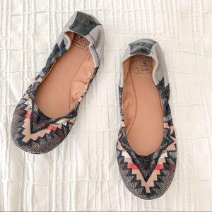 Lucky Brand Emmie II Tribal Ballet Flats Size 8.5